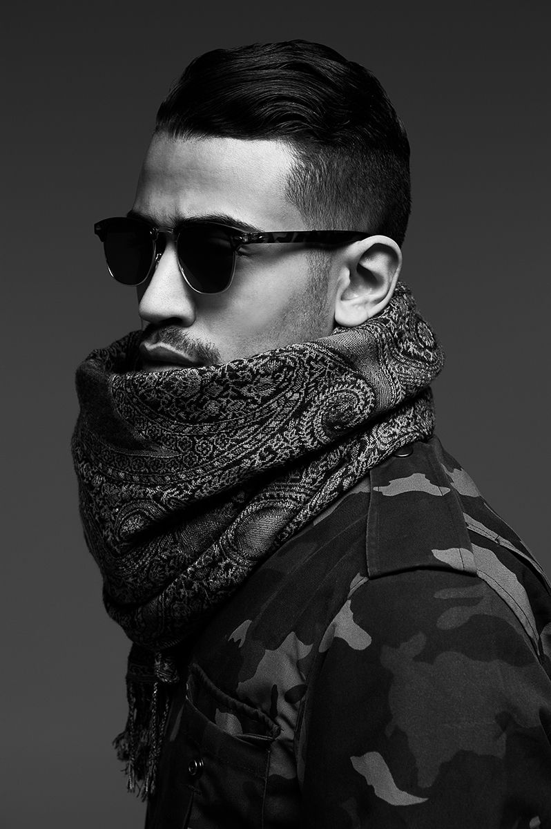 Stylish men haircuts fashion attitude male model   develop the sexual presence of a
