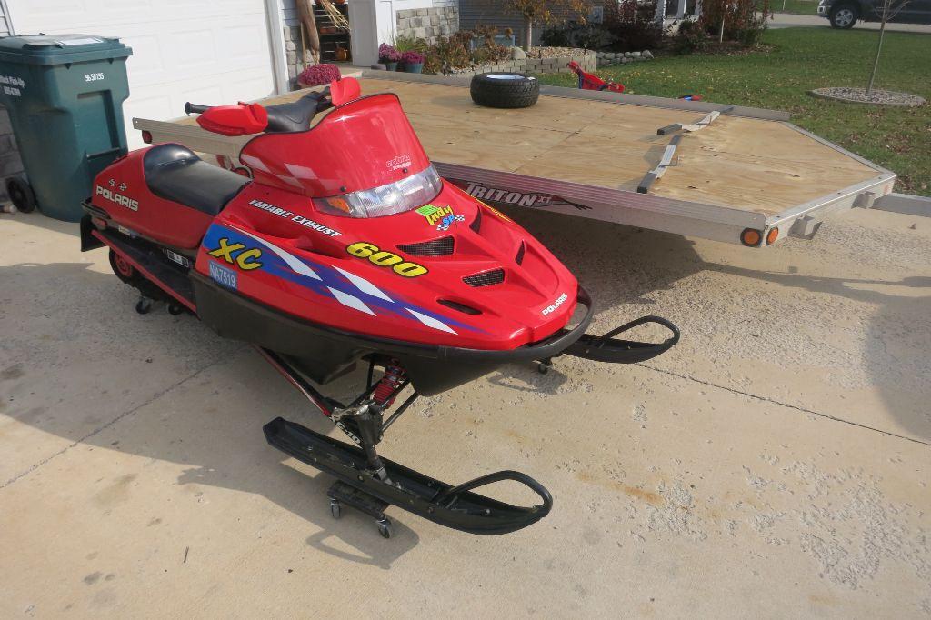 2000 Polaris Xc Sp 600 Snow Machine Snowmobile Open Wheel Racing