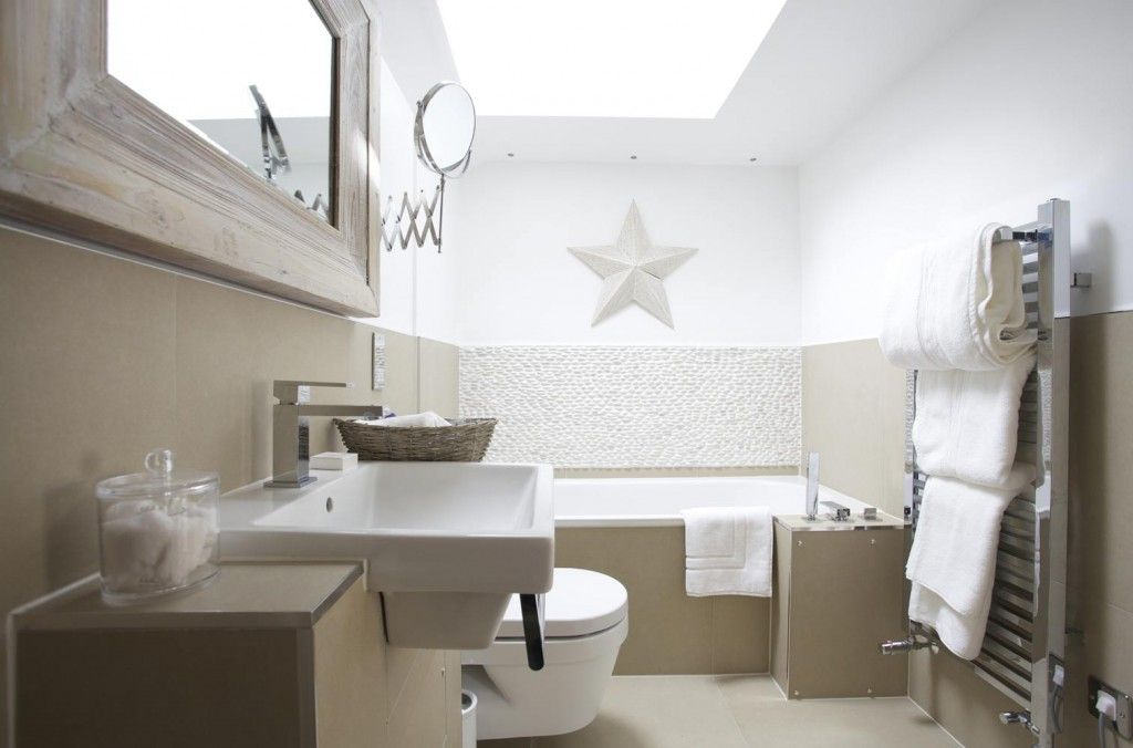 shades bathroom furniture uk%0A contemporary country bathroom in neutral shades   Luxury small hotel by the  sea in St Ives
