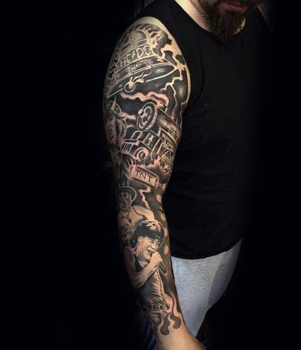 60 Music Sleeve Tattoos For Men Lyrical Ink Design Ideas Music