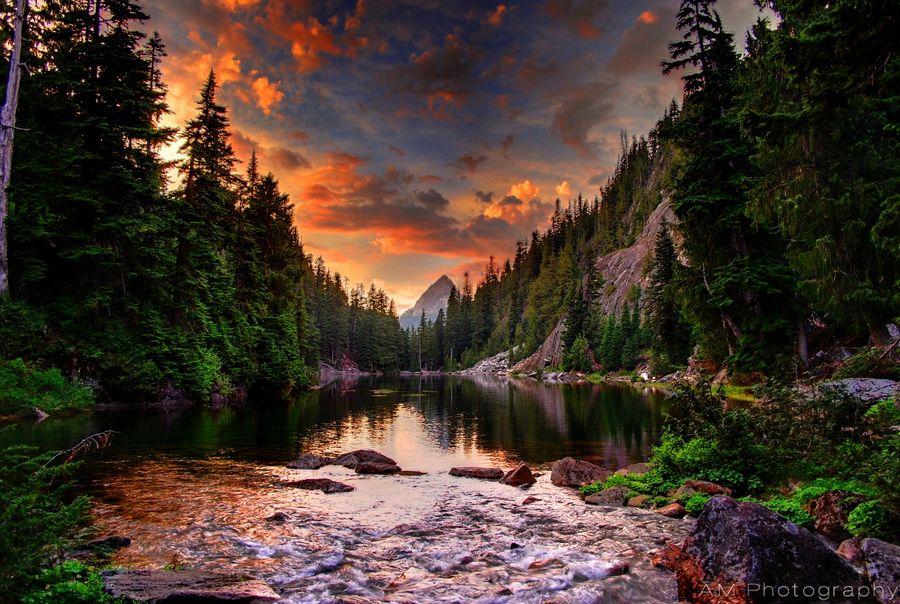 Alpine Sunset by Alex McKelvey, via 500px