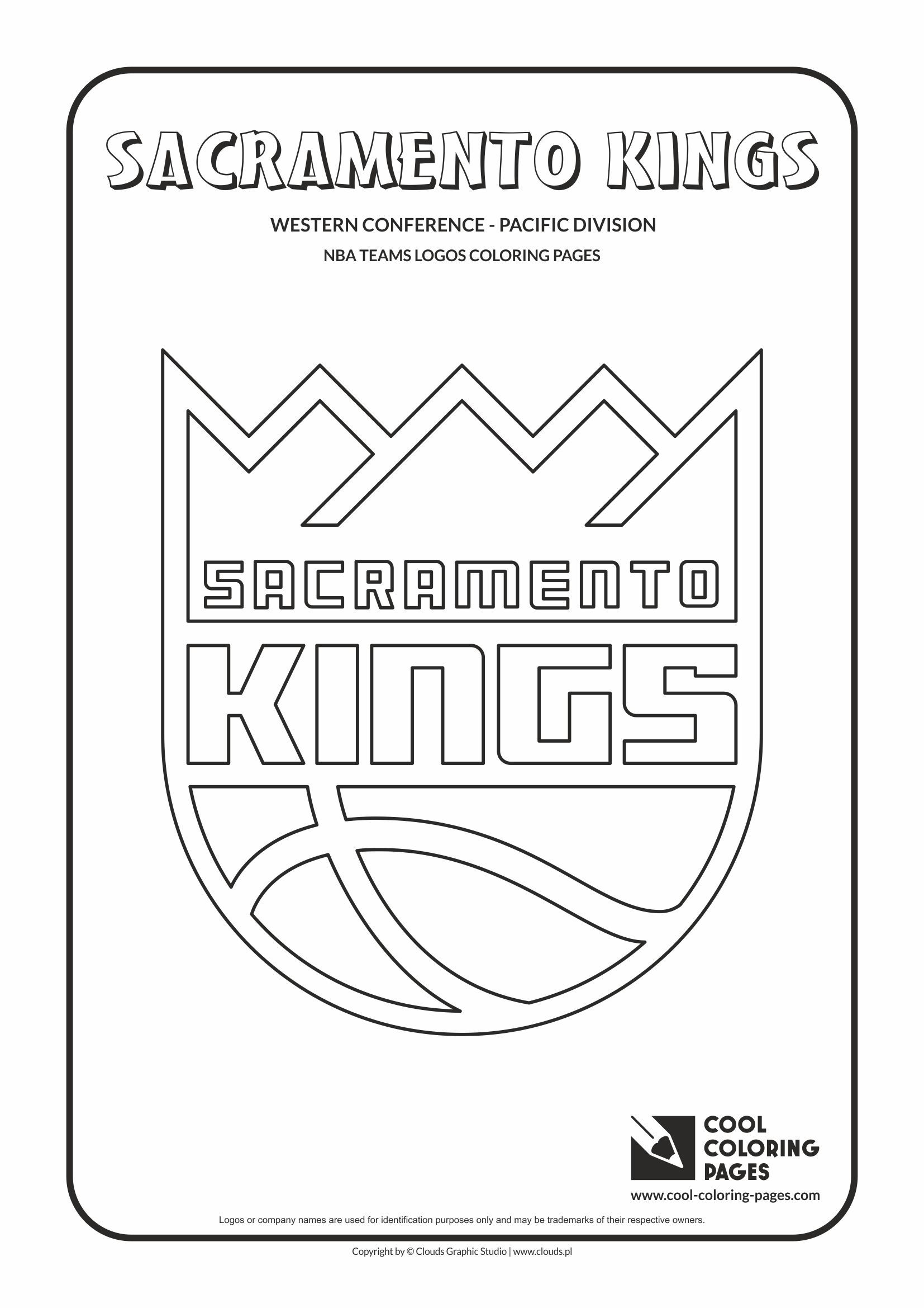 Sacramento Kings Nba Basketball Teams Logos Coloring Pages