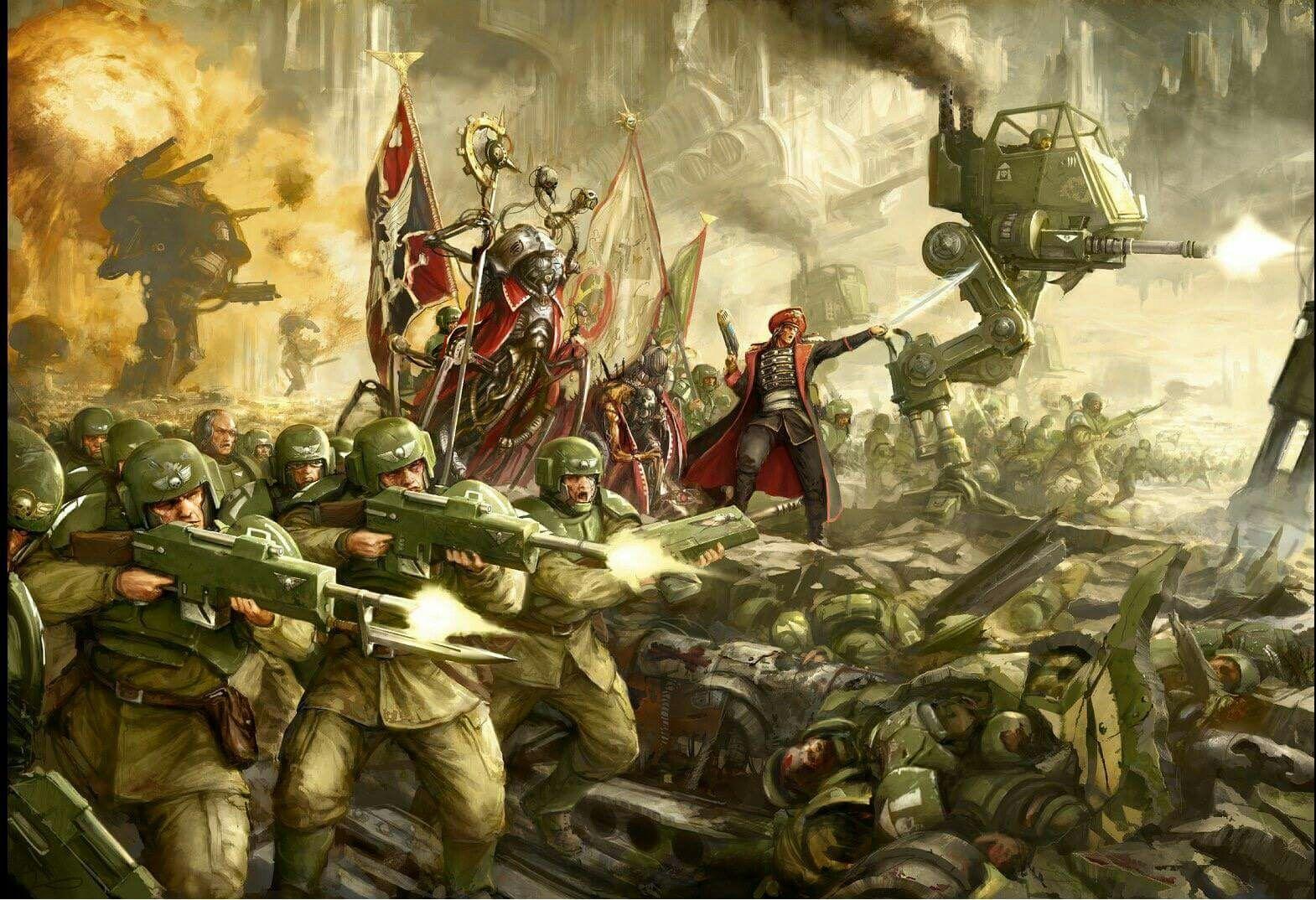 Imperial guard 40K | Warhammer art, Warhammer 40k ...