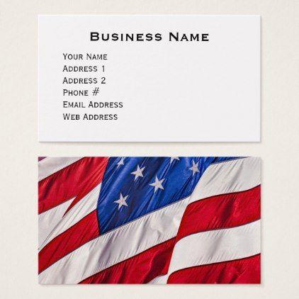 American flag business card business cards colourmoves