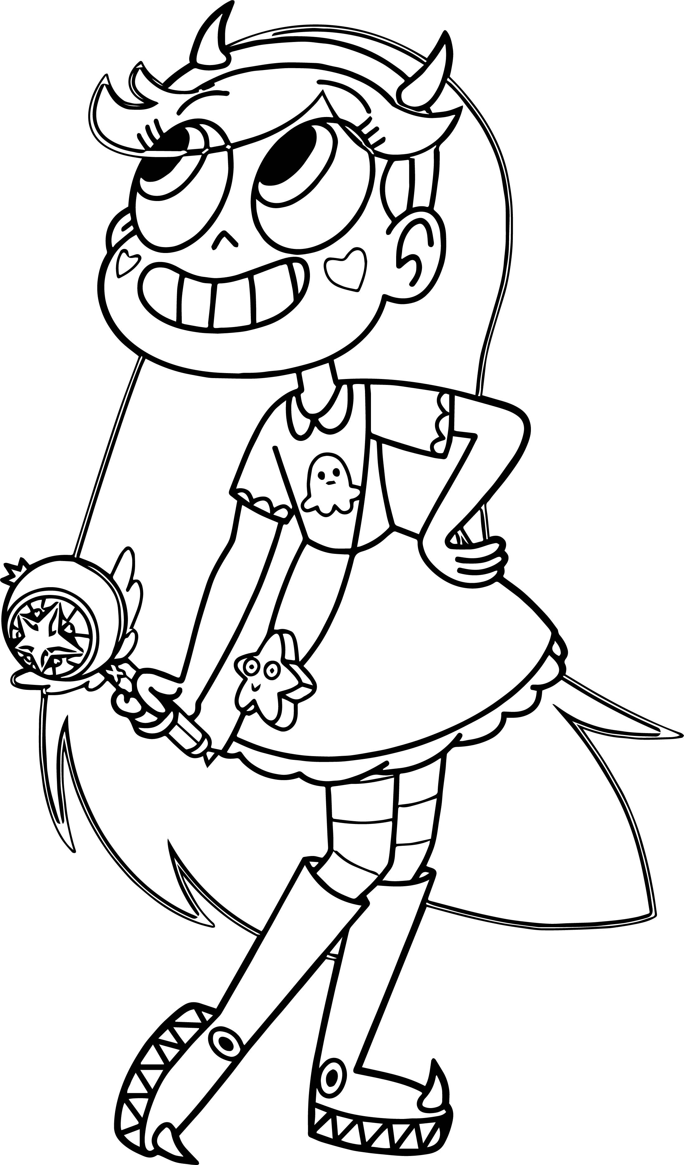Cool Star Vs The Forces Of Evil Butterfly Coloring Page