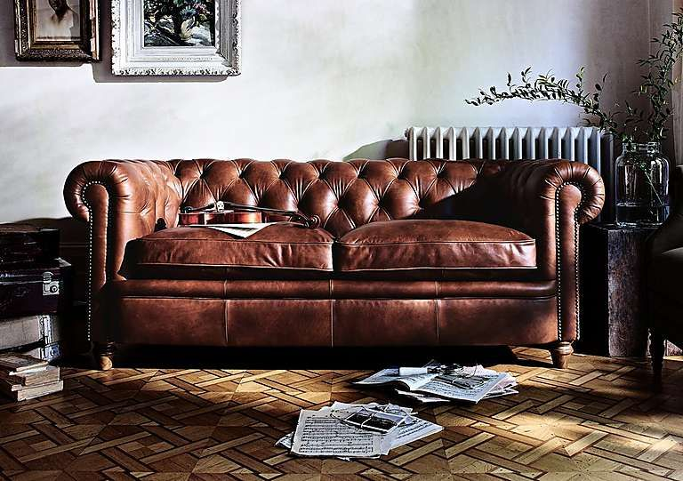 New England Newport 3 Seater Leather Sofa | 3 seater ...