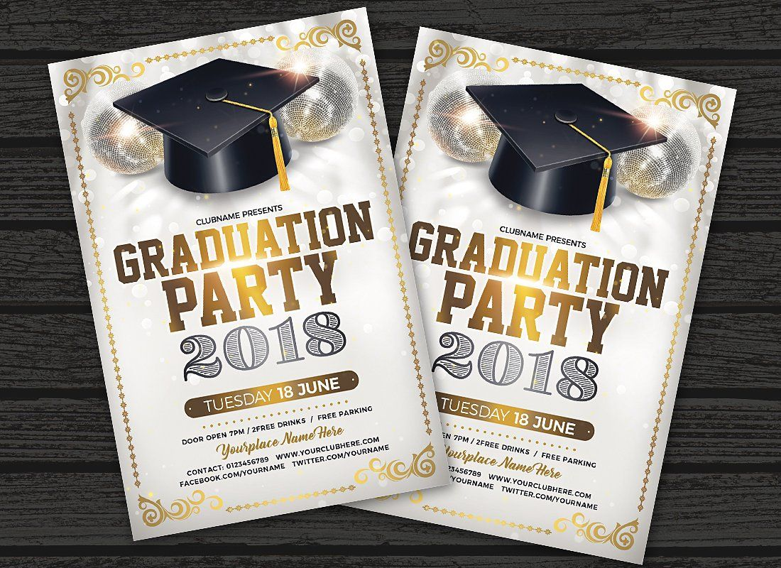 Graduation Party Flyer Template Graduation Party Flyer Party