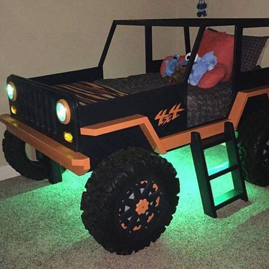 Jeep Bed Plans Twin Size Car Bed Etsy Jeep Bed Kid Beds Kids