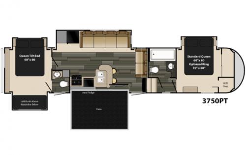 2 Bedroom 5th Wheel Bedroom At Real Estate Rv Floor Plans Camper Living Little Houses On Wheels