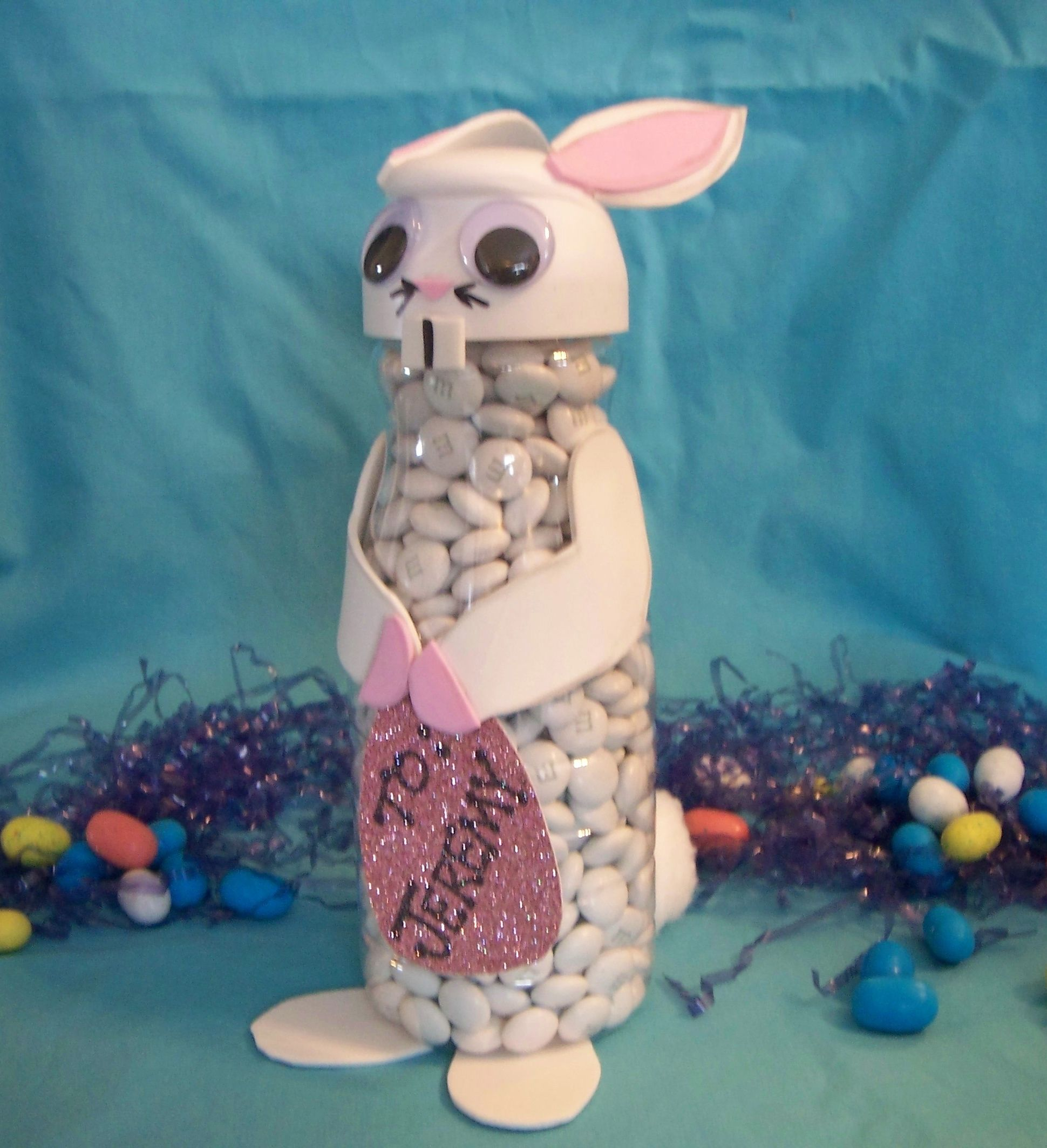 Easter Bunny from a coffee creamer container! Too Cute!