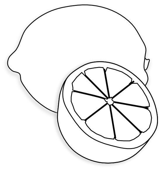 Lemon Clip Art 7771 Fruit Coloring Pages Art Drawings For Kids Clip Art