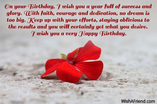 On Your Birthday I Wish You Inspirational Birthday Message Birthday Wishes And Images Inspirational Birthday Message Inspirational Birthday Wishes