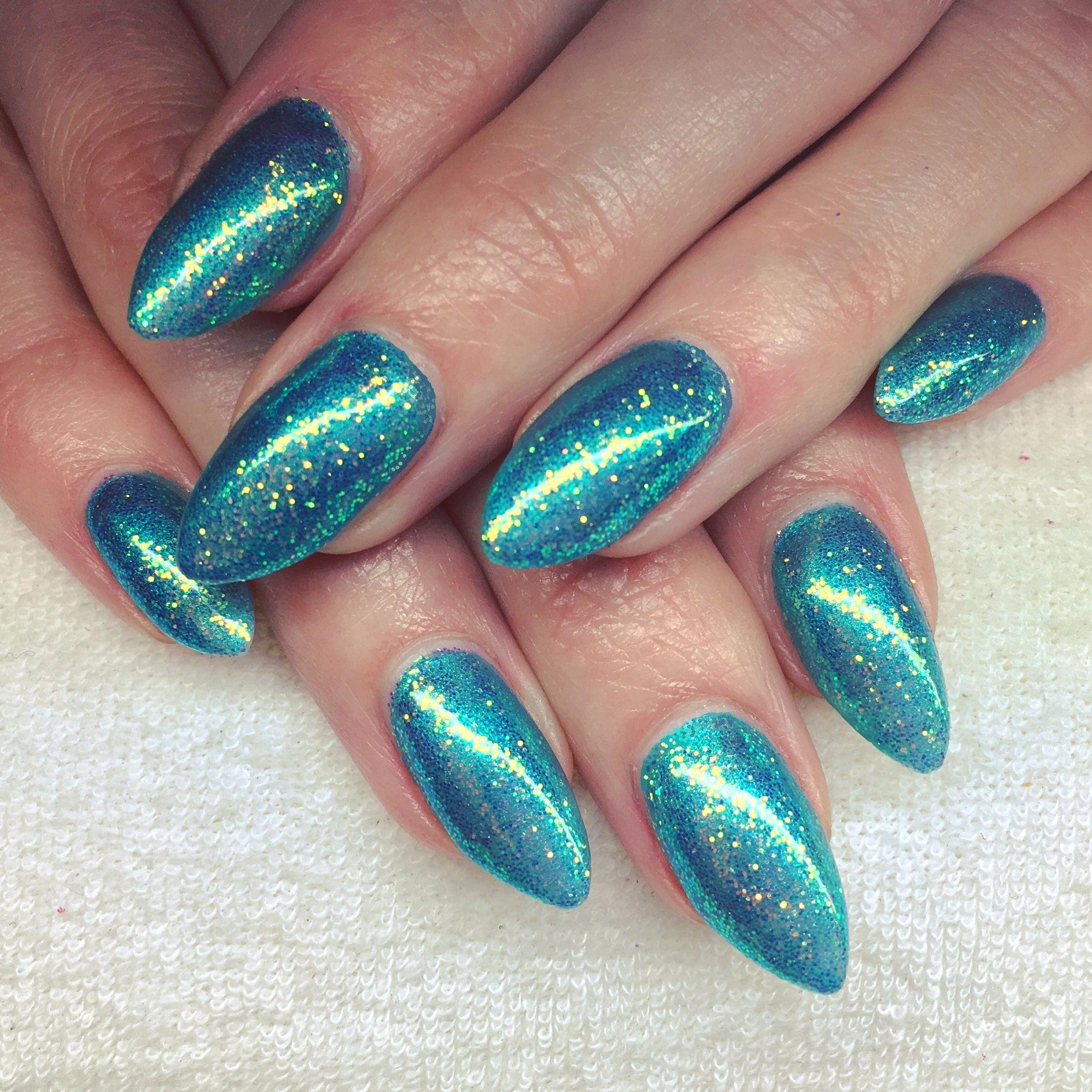 CND Shellac Hotski to Tchotchke and Lecente Capri Glitter | nails ...