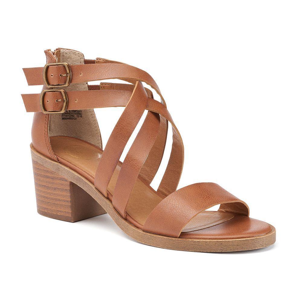 4ba581f5923 SO® Women s Crisscross Block Heel Sandals