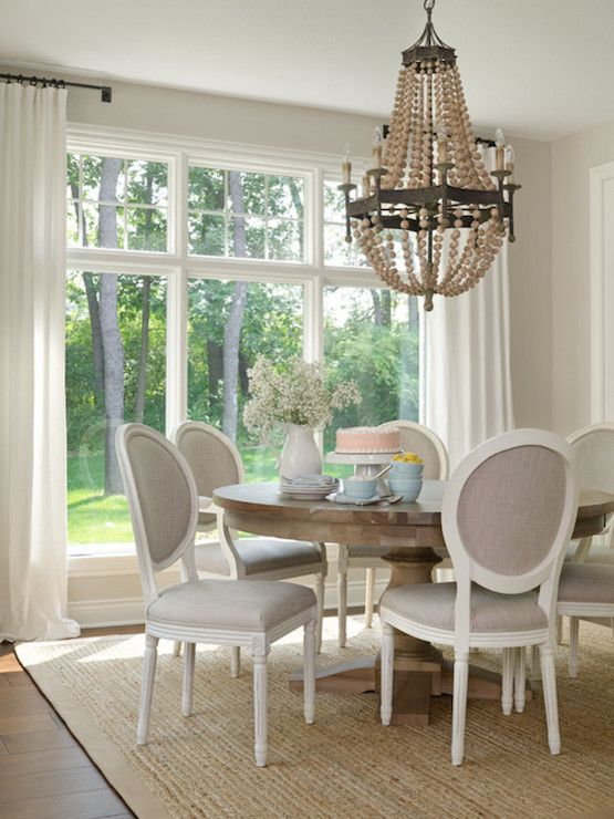 Gray French Dining Chairs, Transitional, Dining Room, Sherwin Williams  Agreeable Gray, Bria