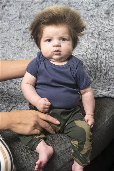 Meet Baby Bear The 2 Month Old Baby With The World S Best Hair 2 Month Old Baby Unique Baby Boy Names 9 Week Old Baby