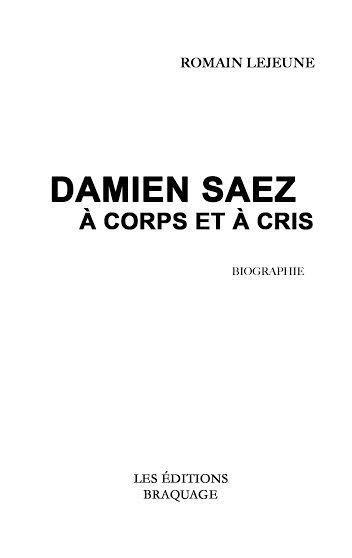 Saez Damien Saez Biographie Corps