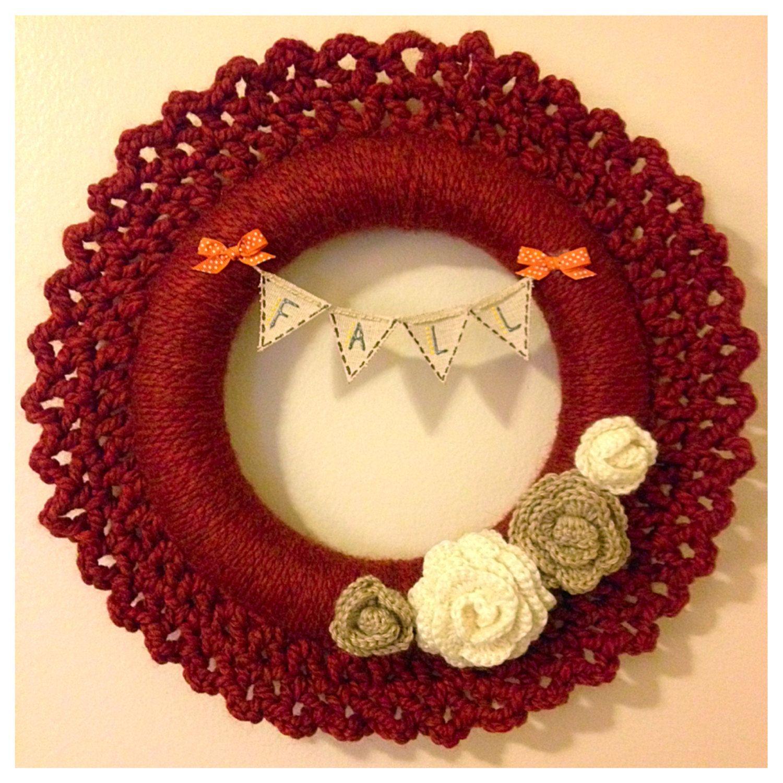 Crochet Fall Wreath 17\
