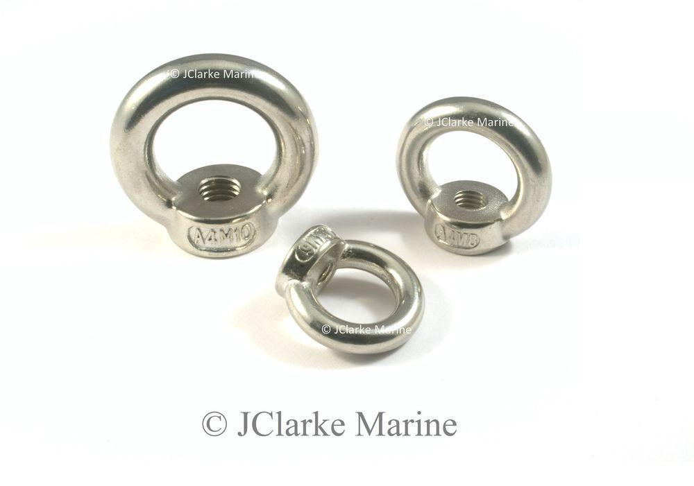A4 Grade Lifting Ring Eye Bolt Eye Nut Stainless Steel Screw Bolt M5 M6 M8 M10