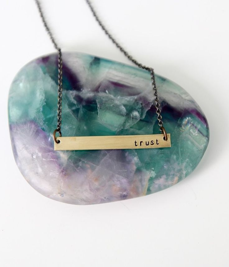 Intention of the year bar necklace