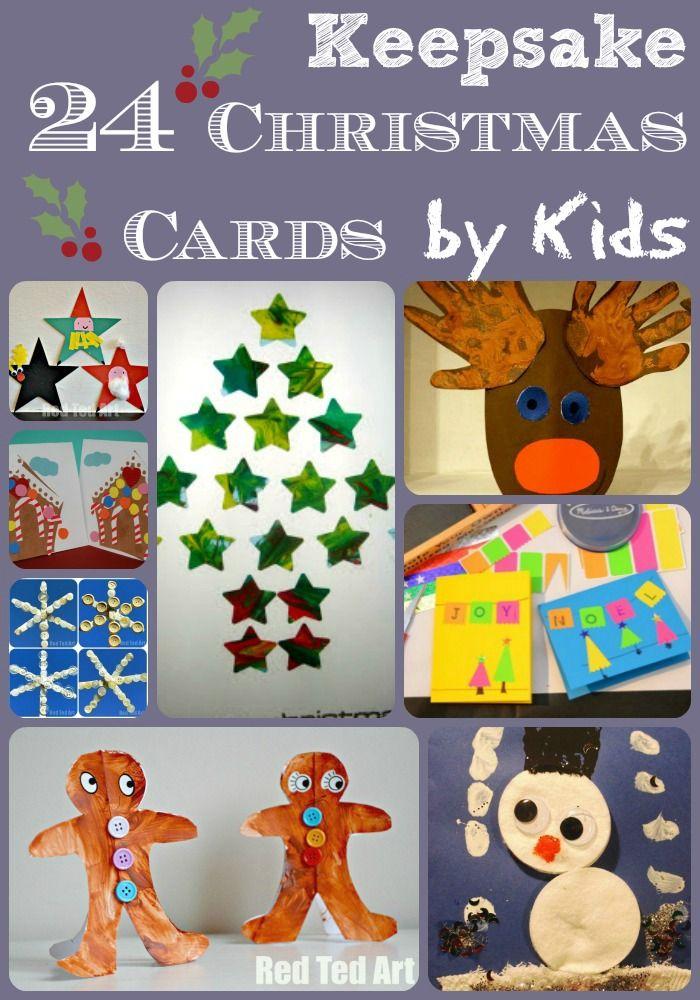 Reverse Fingerprint Christmas Tree Cards Diy christmas