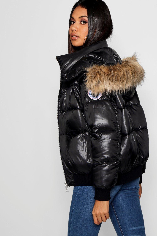 Faux Fur Trim Cire Puffer Jacket Boohoo Puffer Coat With Fur Puffer Jacket Women Puffer Jackets [ 1500 x 1000 Pixel ]