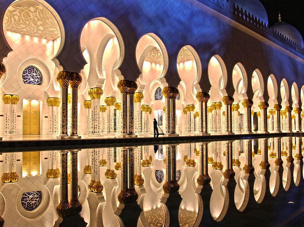 La simetr a hecha arte mezquita de sheikh zayed en abu - Eau arquitectura ...