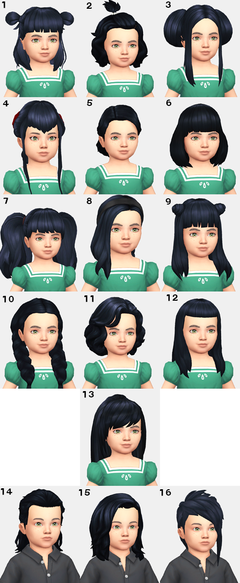 Cc Showcase Toddler Hairstyles Maxis Match In 2020 Toddler Hair Sims 4 Sims 4 Children Sims 4