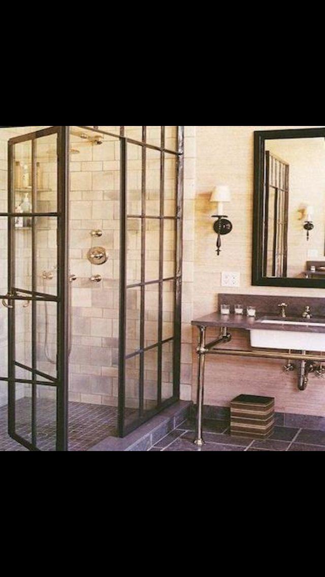 Great idea for shower doors