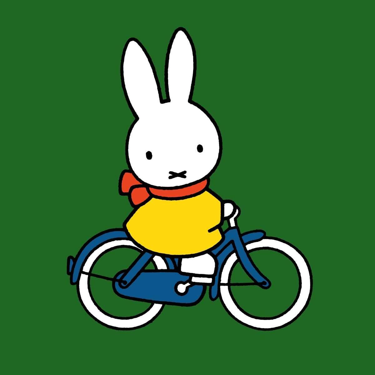 charmante kleurplaat nijntje op de fiets krijg duizenden