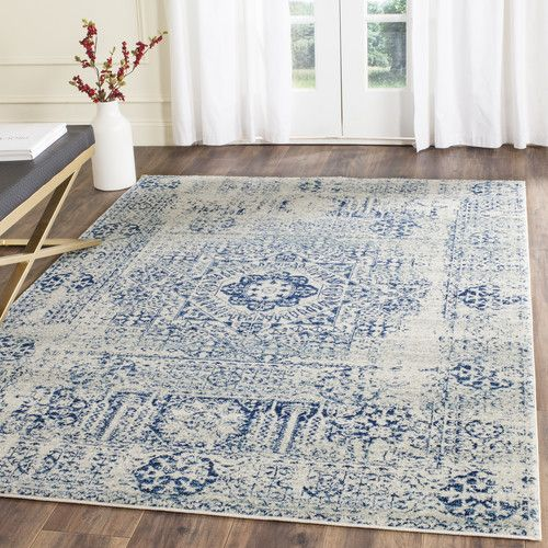 Found It At Joss Main Nellie Ivory Blue Area Rug Making A