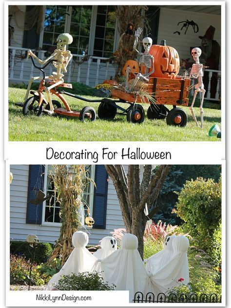 Looking for some cute ideas for outdoor decorating for Halloween