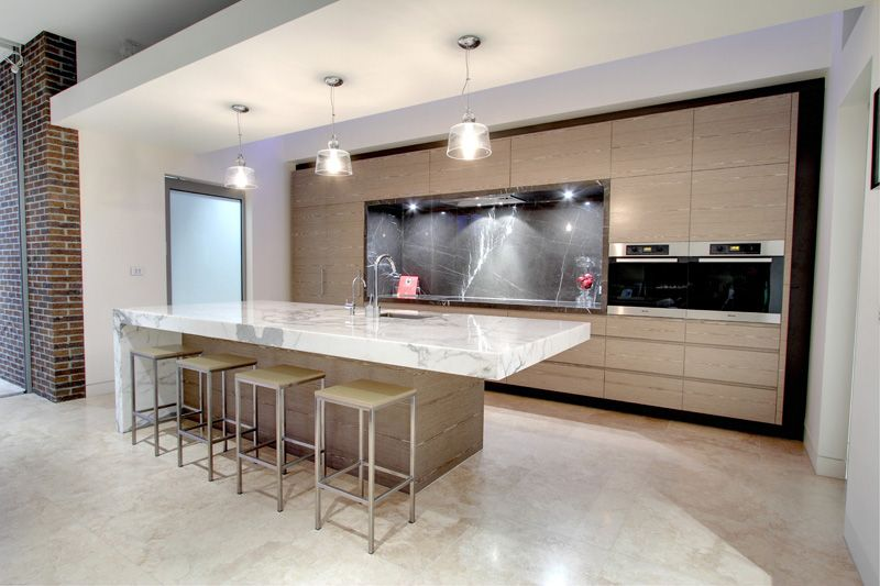 L Shaped Modern Kitchen Designs With Island