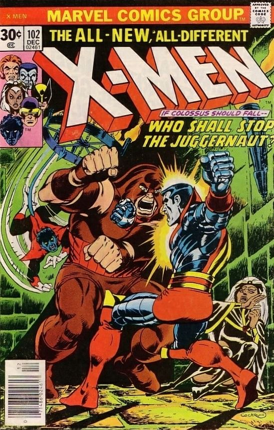 The X Men 102 Who Shall Stop The Juggernaut Issue Marvel Comics Covers Comics Comic Book Heroes