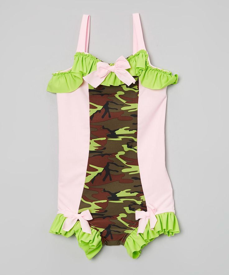 3c6d8ac5e9 SUMMER 2015 CLEARANCE!!! Ruffled Boyshort Swimsuit in Camo (Size 2 - 7