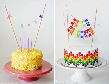 cake bunting free printable Google Search Printables para