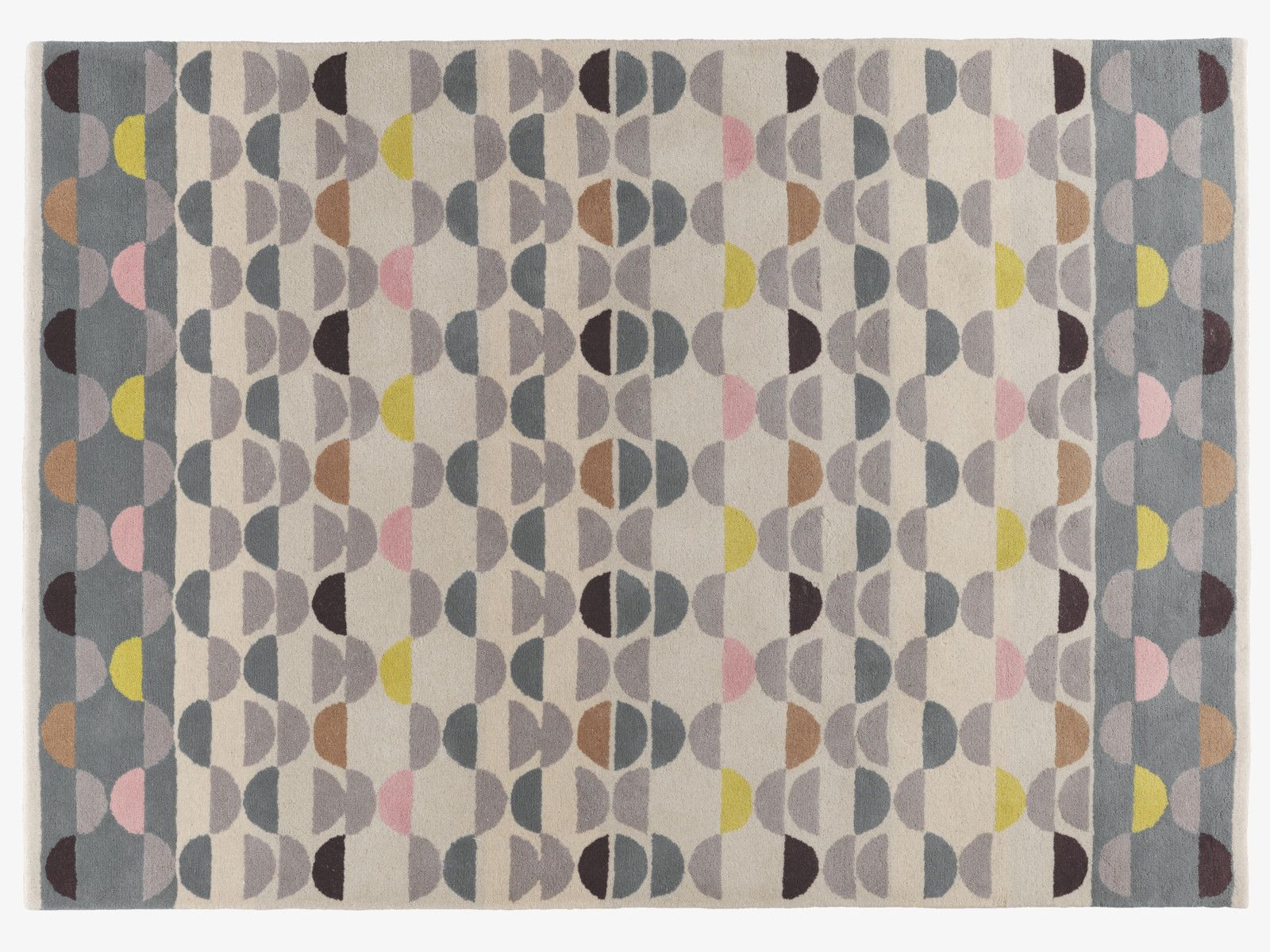 Odeon Neutral Wool Large Multi Coloured Wool Rug 170 X 240cm Habitatuk Rugs Wool Rug Colorful Rugs