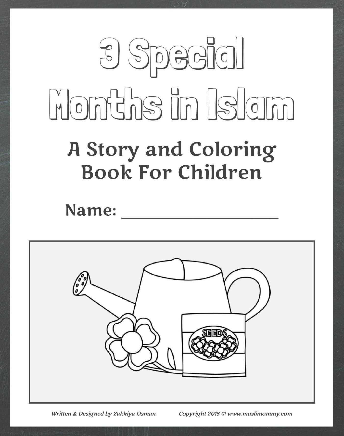 3 Special Months In Islam Coloring Book Ramadan