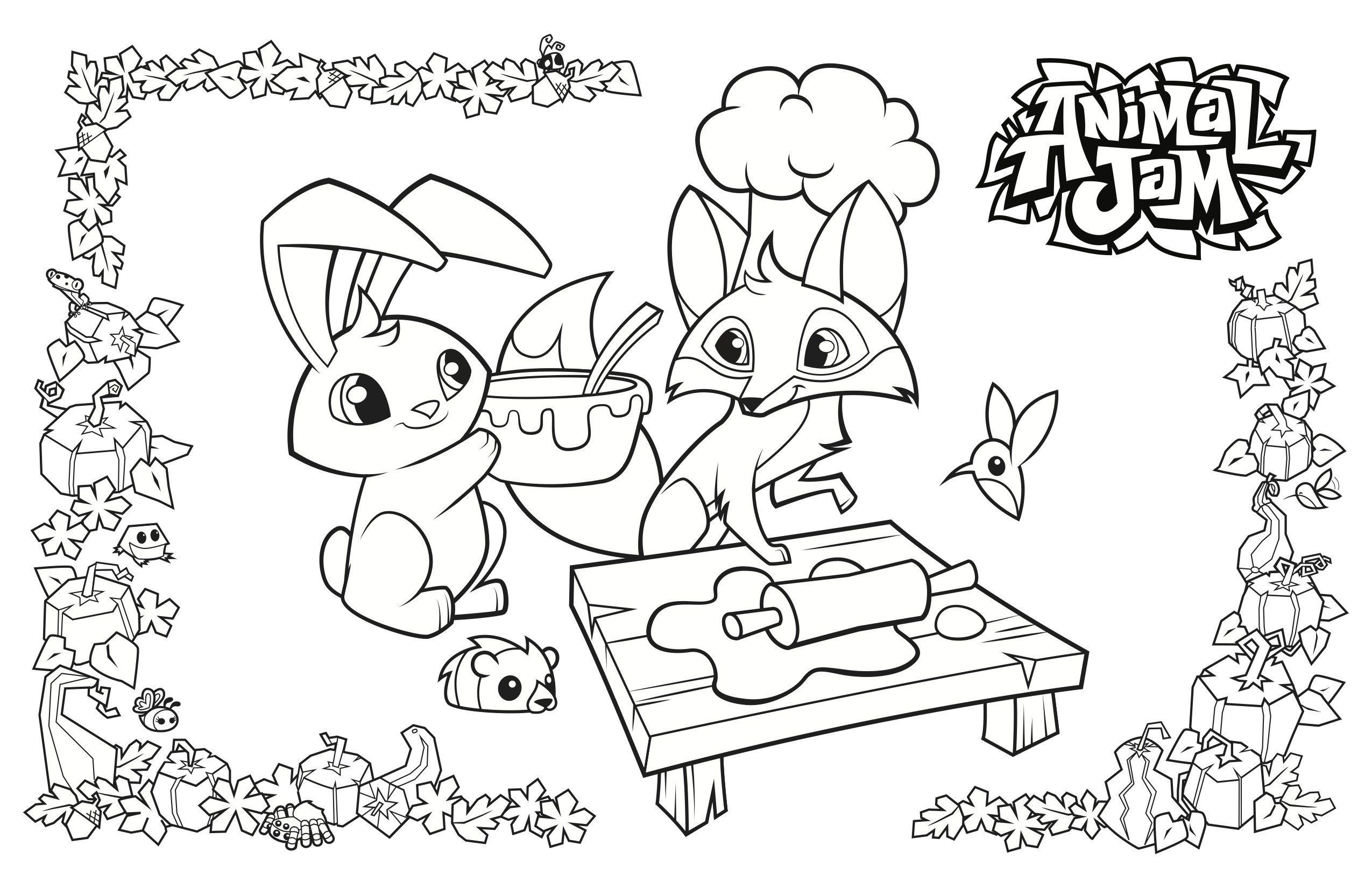 Animal Jam Coloring Pages Lovely Collection Animal Jam ...
