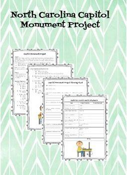 North Carolina Monument Project 4h2 4th Grade Social Studies