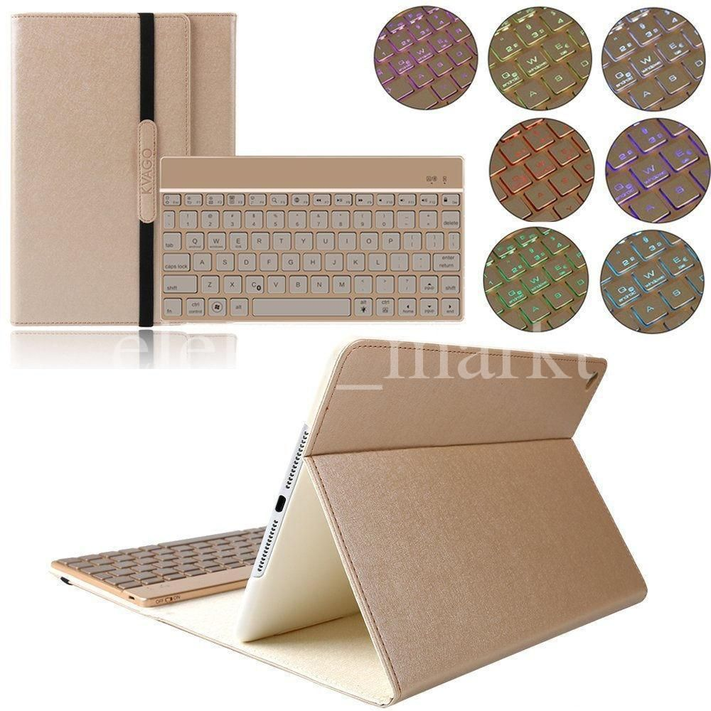 Ipad Air 2 Leder Hulle Beleuchtet Bluetooth Tastatur Case Smart Cover Qwertz In Computer Tablets Netzwerk Tabl With Images Ipad Air 2 Ipad Accessories Ipad Air 2 Cases