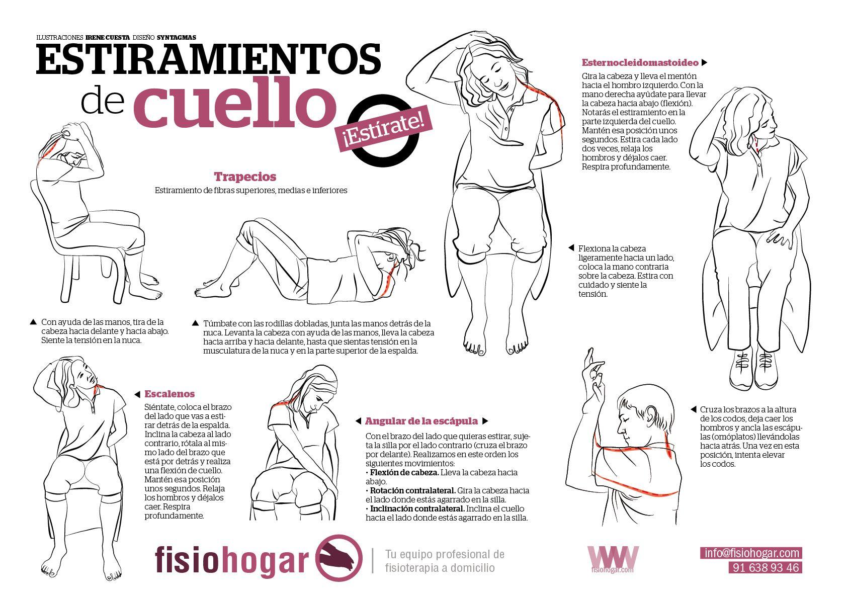 Ejercicios de estiramiento para el cuello | Gym | Pinterest ...