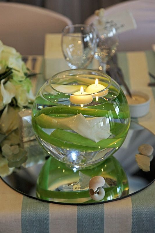 Goldfish Bowl With Cala And Table Mirror
