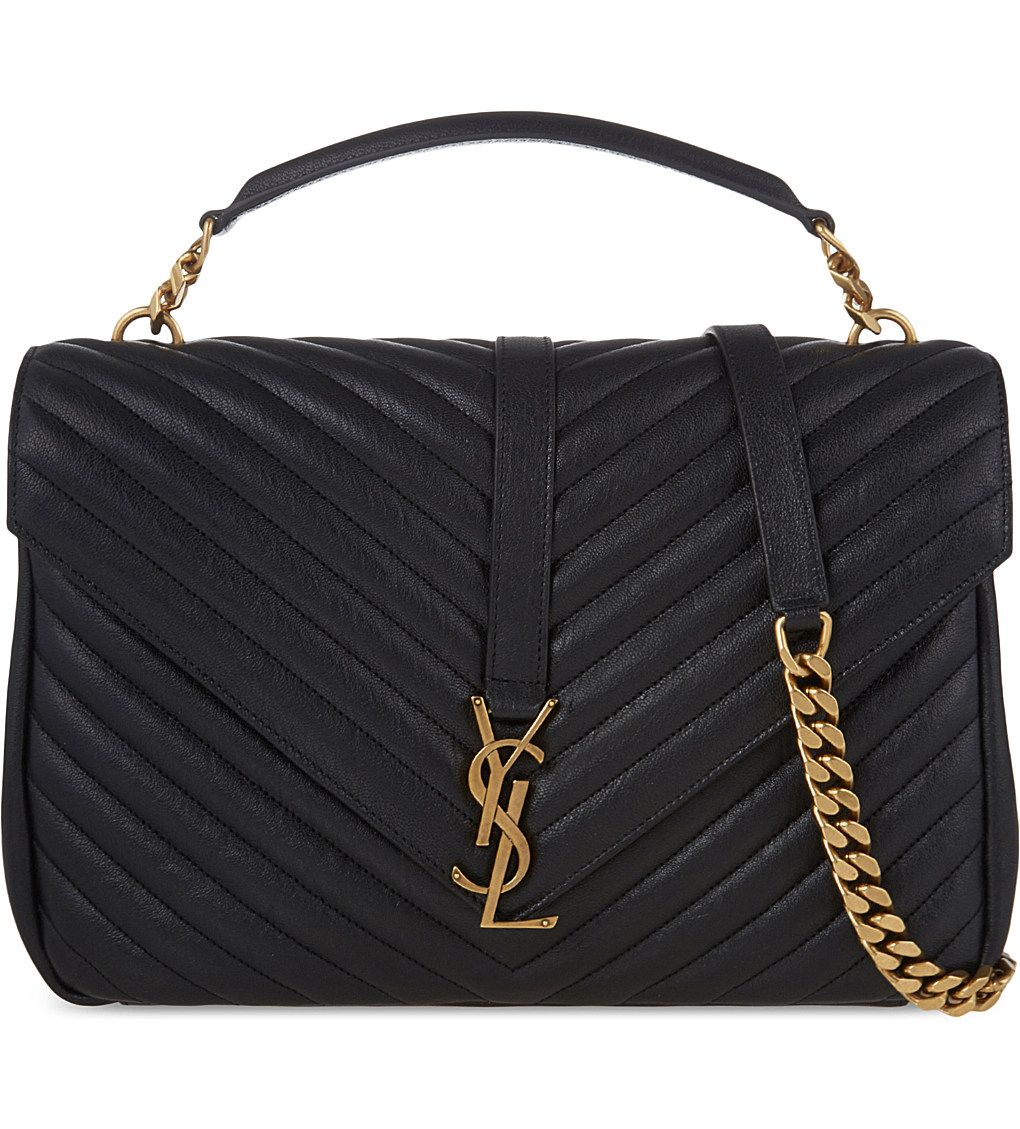 SAINT LAURENT Monogram collège leather satchel 96aaf7c788cbd