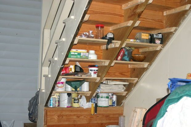 Under Stairs Shelves Shelves Under Stairs Stair Shelves