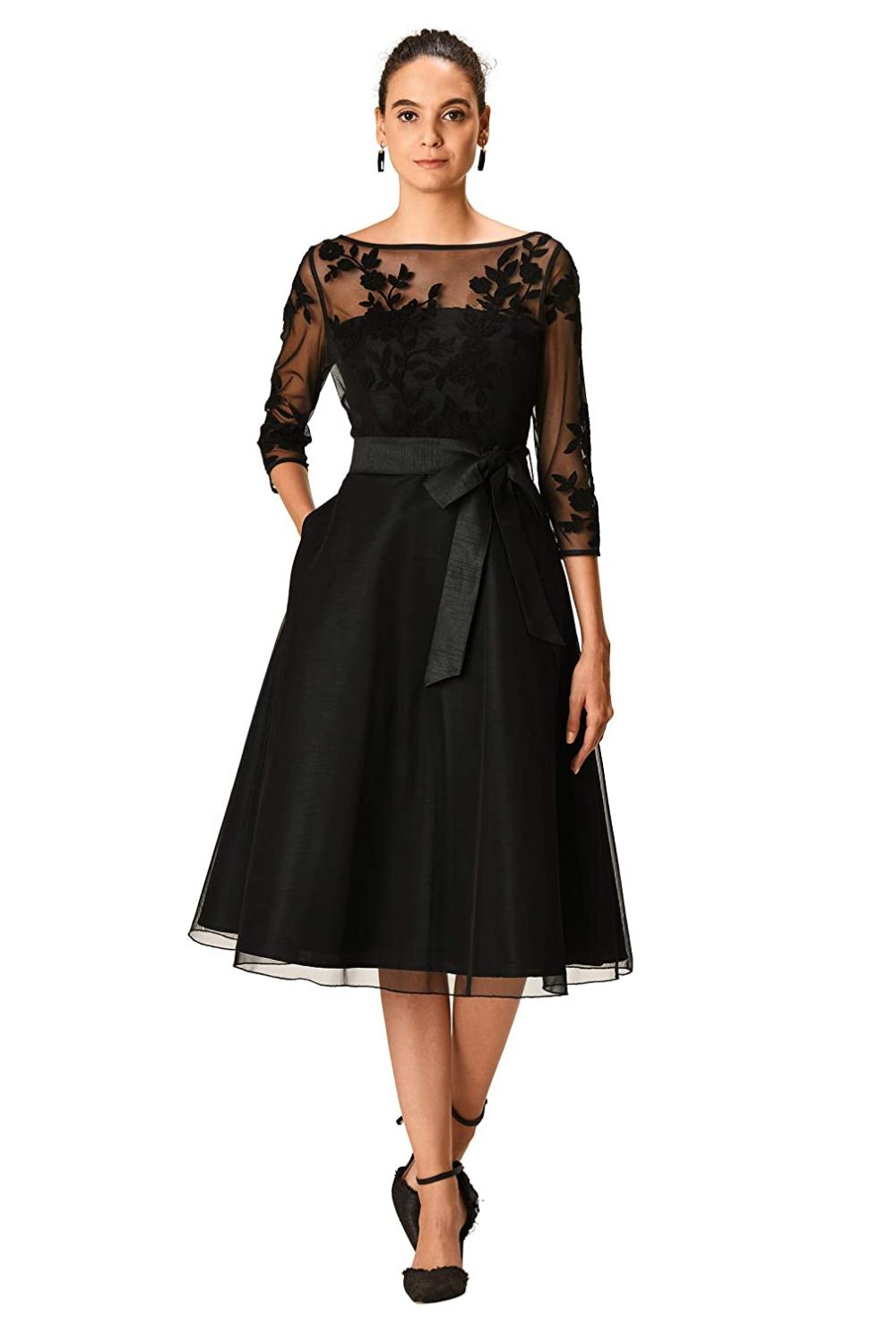60s 70s Plus Size Dresses Clothing Costumes In 2021 1950s Cocktail Dress Fashion Clothes Women Black Tea Length Dress [ 1486 x 1000 Pixel ]