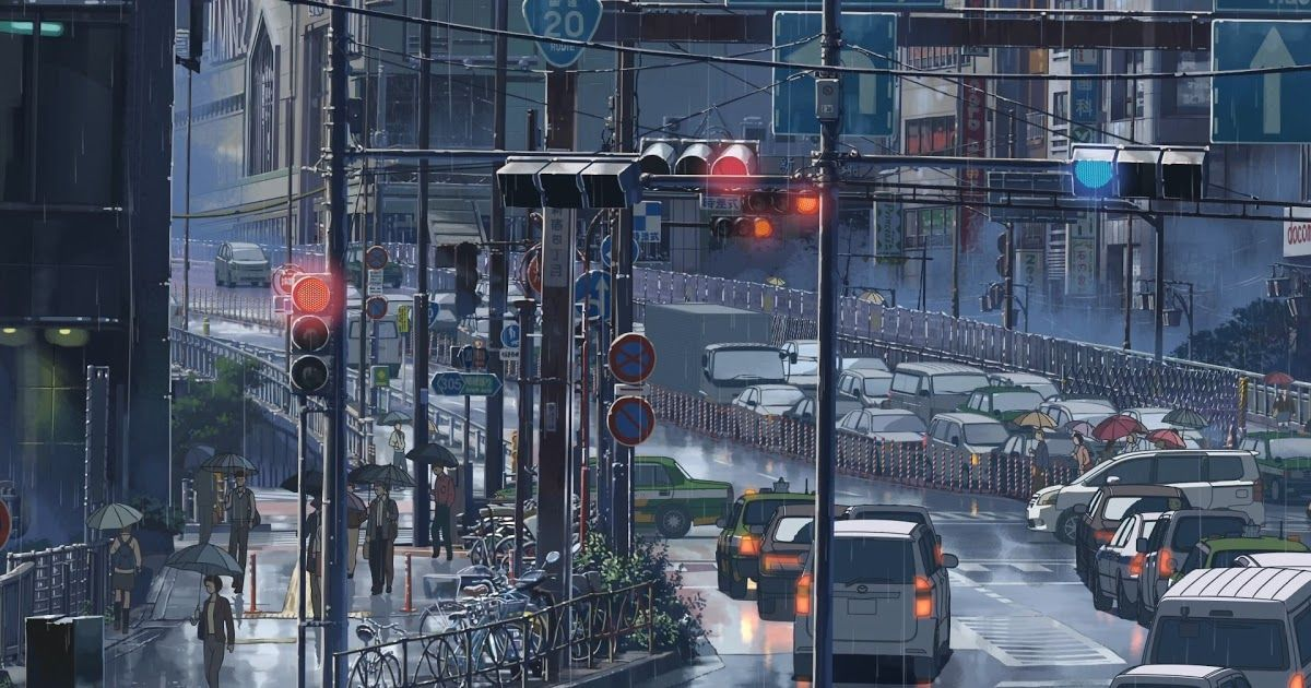 Traffic Rain Japan The Garden Of Words Makoto Shinkai Lo Fi Wallpapers Fur Android Apk Herunterlade In 2020 Anime Scenery Wallpaper Anime City Anime Scenery