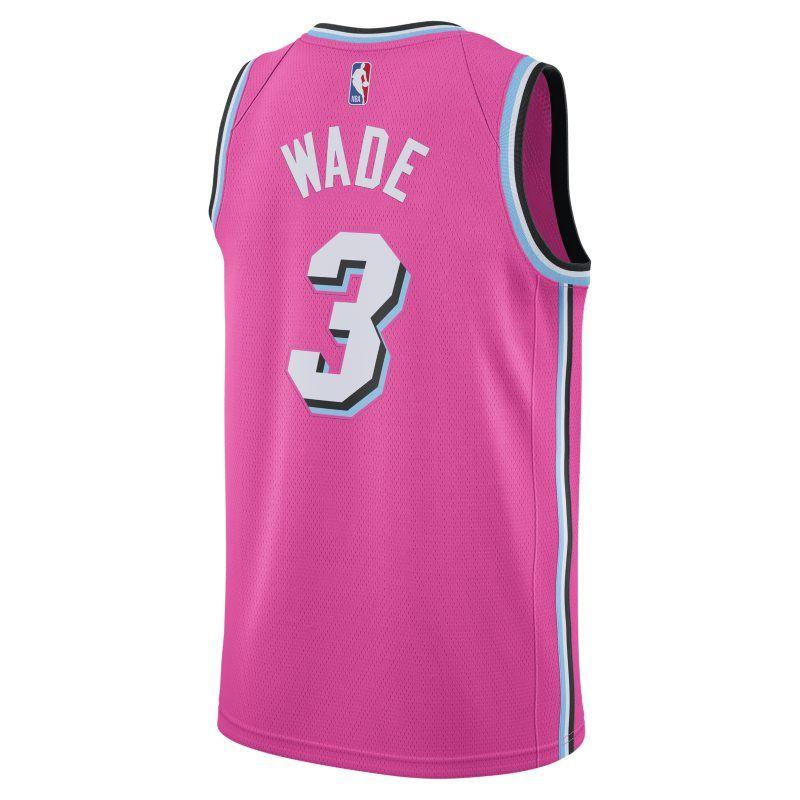 Dwyane Wade Earned City Edition Swingman (Miami Heat) Men s Nike NBA  Connected Jersey - Pink d6d488535