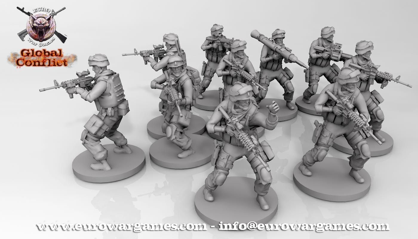 28mm & 32mm modern wargame N A C | Global Conflict | Soldiers | 28mm