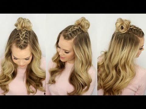 Mohawk Braid Top Knot | Half Up Hairstyle - YouTube #Braidedbun #braidedtopknots Mohawk Braid Top Knot | Half Up Hairstyle - YouTube #Braidedbun #braidedtopknots